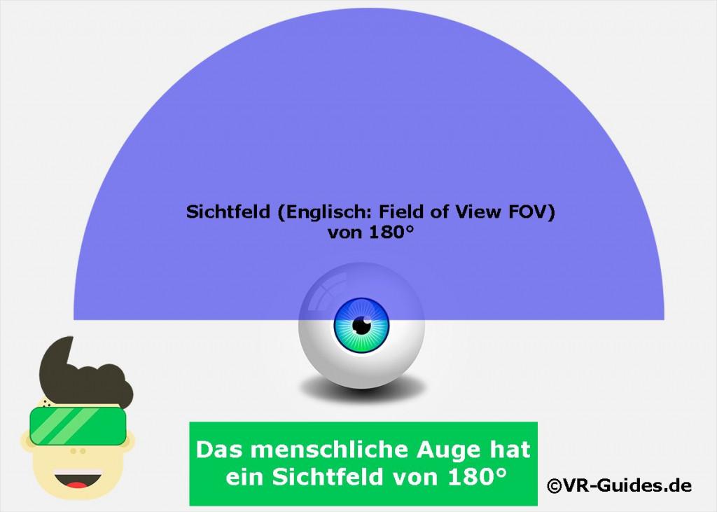 Sichtfeld des menschlichen Auges Illustration